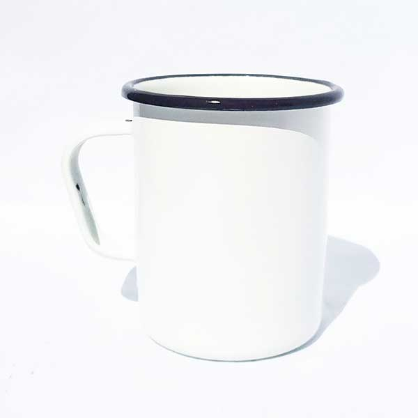 jarro enlozado alto blanco 8x10